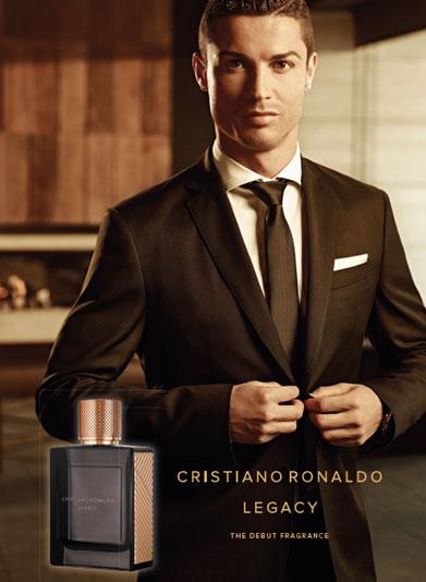 Imagen publicitaria de Legacy, la fragancia de Cristiano Ronaldo.