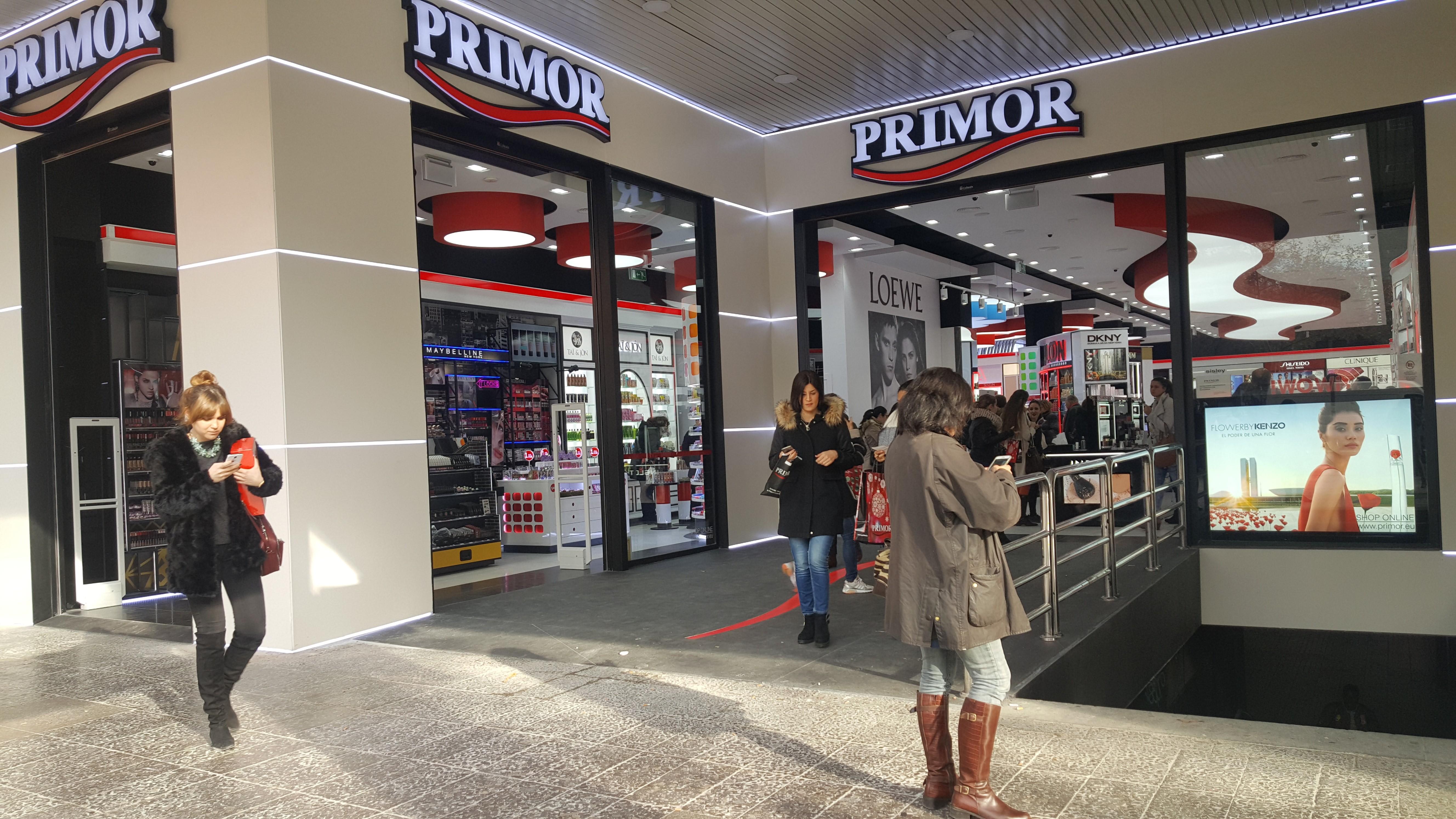 Perfumería Primor, calle Orense de Madrid.