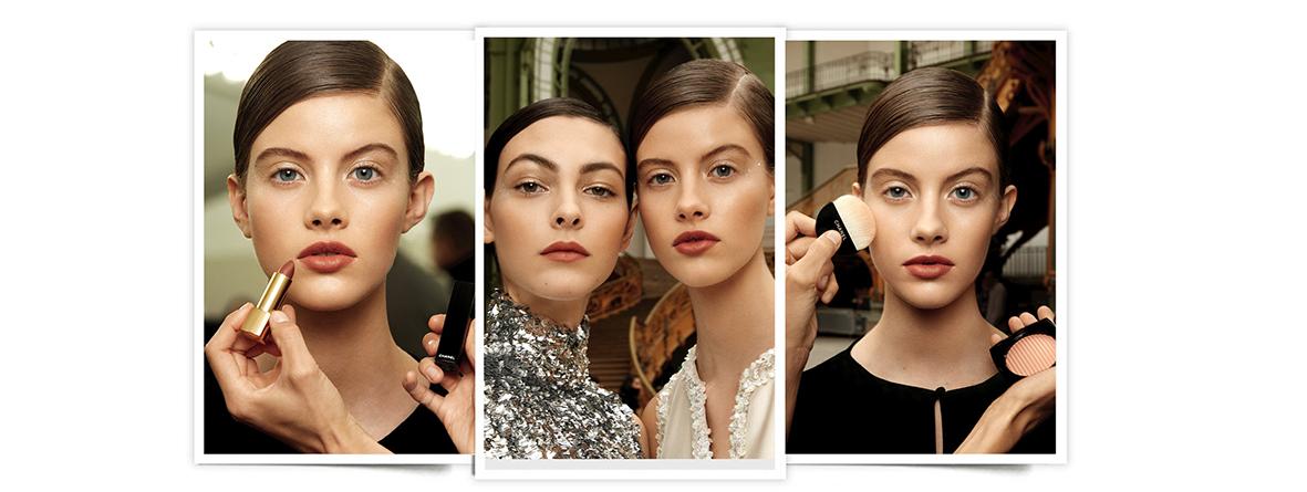 Desfile de primavera de Chanel alta costura primavera verano 2017, look de maquillaje