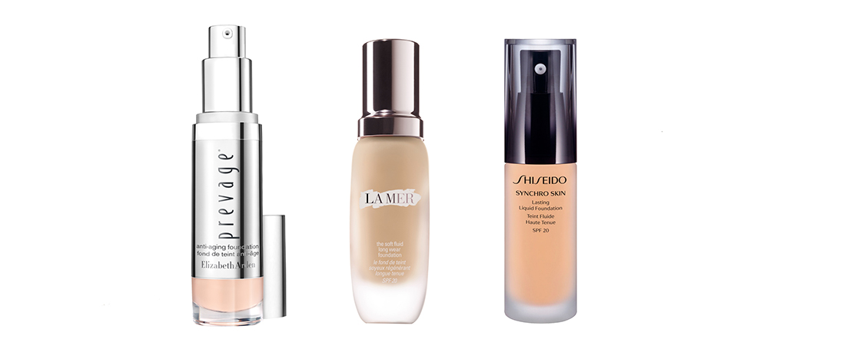 fondos-maquillaje-innovadores: prevage, la mer, shiseido synchro skin