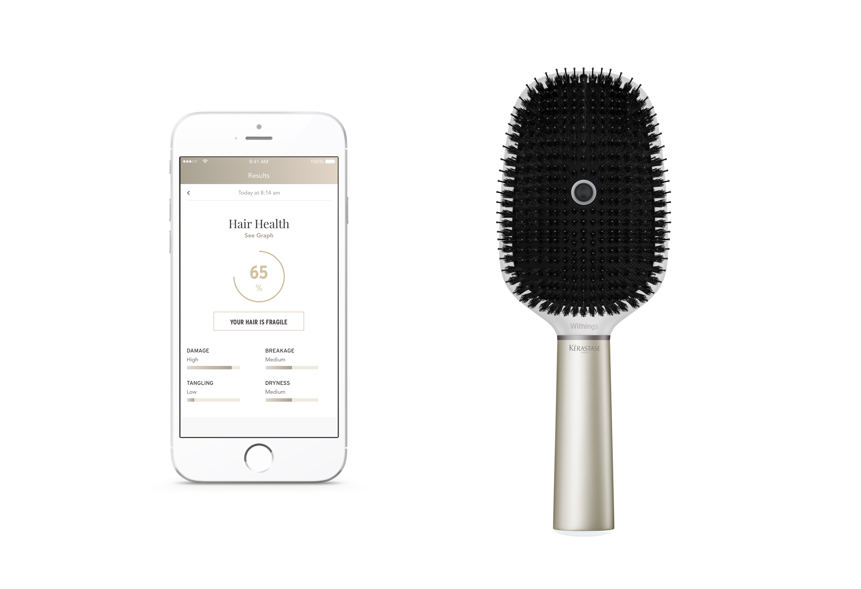 Kérastase Hair Coach Powered by Withings.