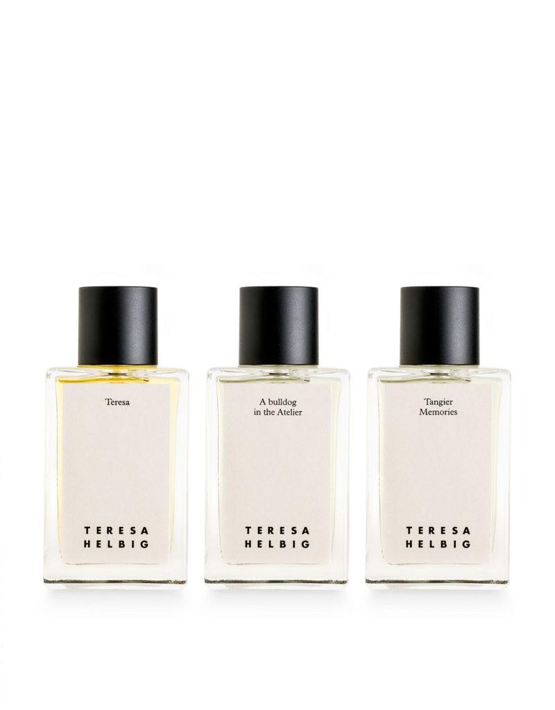 Los perfumes de Teresa Helbig con Carner.
