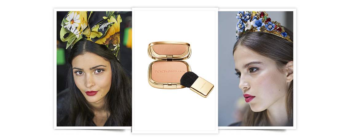 El look de maquillaje luminoso de Dolce & Gabbana