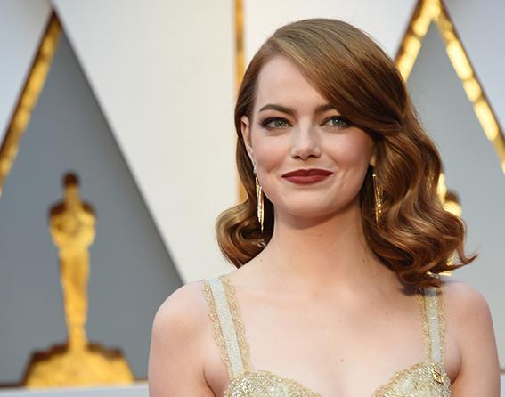 Emma Stone, premios Óscar 2017, look de maquillaje