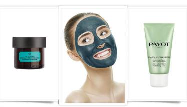 Carbón, el ingrediente de moda en cosmética. Mascarillas con carbón, modelo con mascarilla
