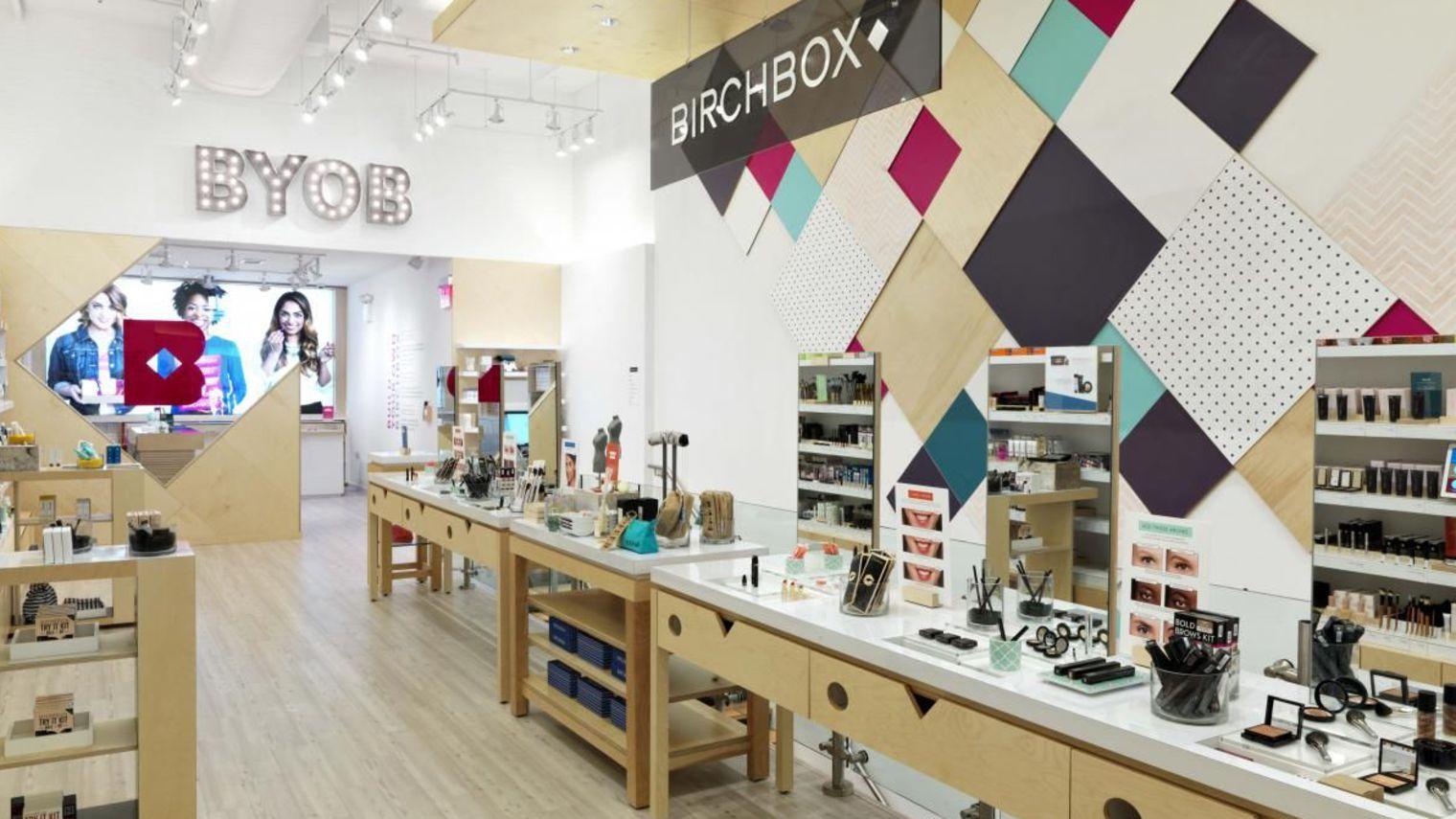 Birchbox, su boutique en París.