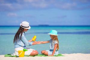 protección solar para niños