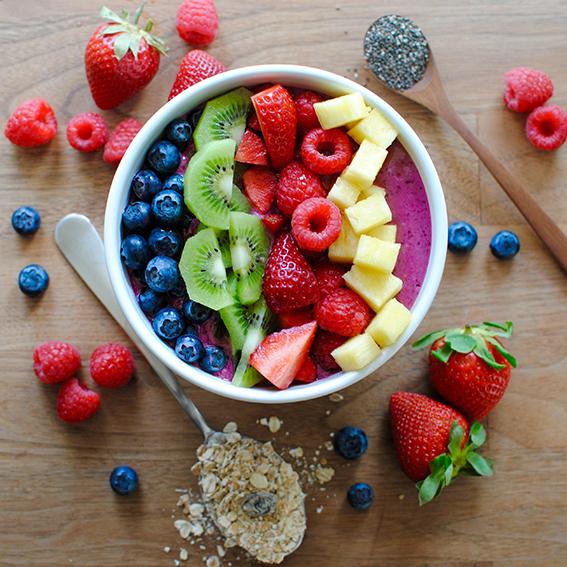 Frutas y súper alimentos