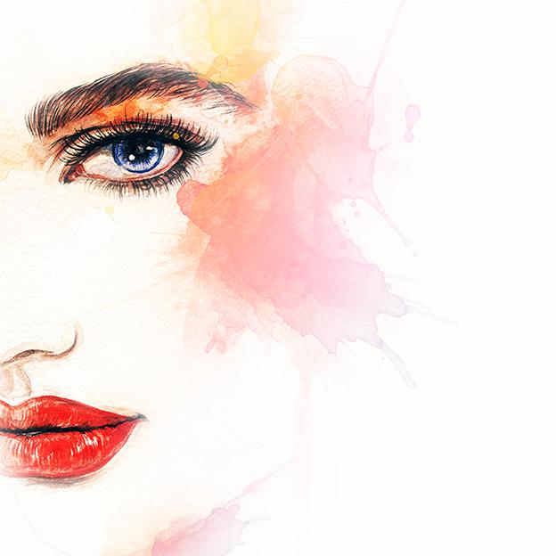 Ilustración maquillaje