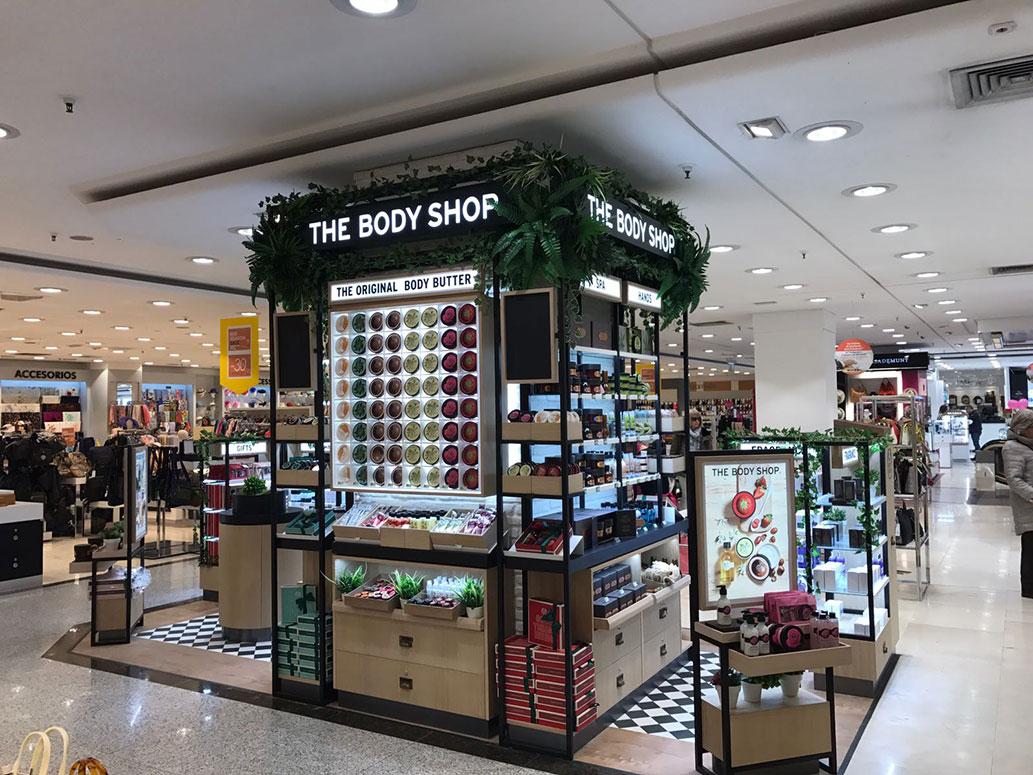 The Body Shop en El Corte Inglés.