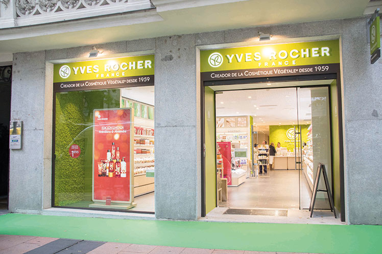 YVES ROCHER ATELIER LAB EN LA CALLE GOYA (MADRID).