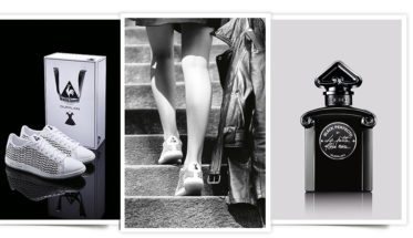 Las zapatillas de Le Coq Sportif para Guerlain. GUERLAIN LE COQ SPORTIF
