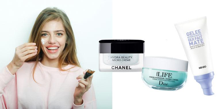 Cremas frescas, tratamientos faciales Chanel, Dior y Kenzoki