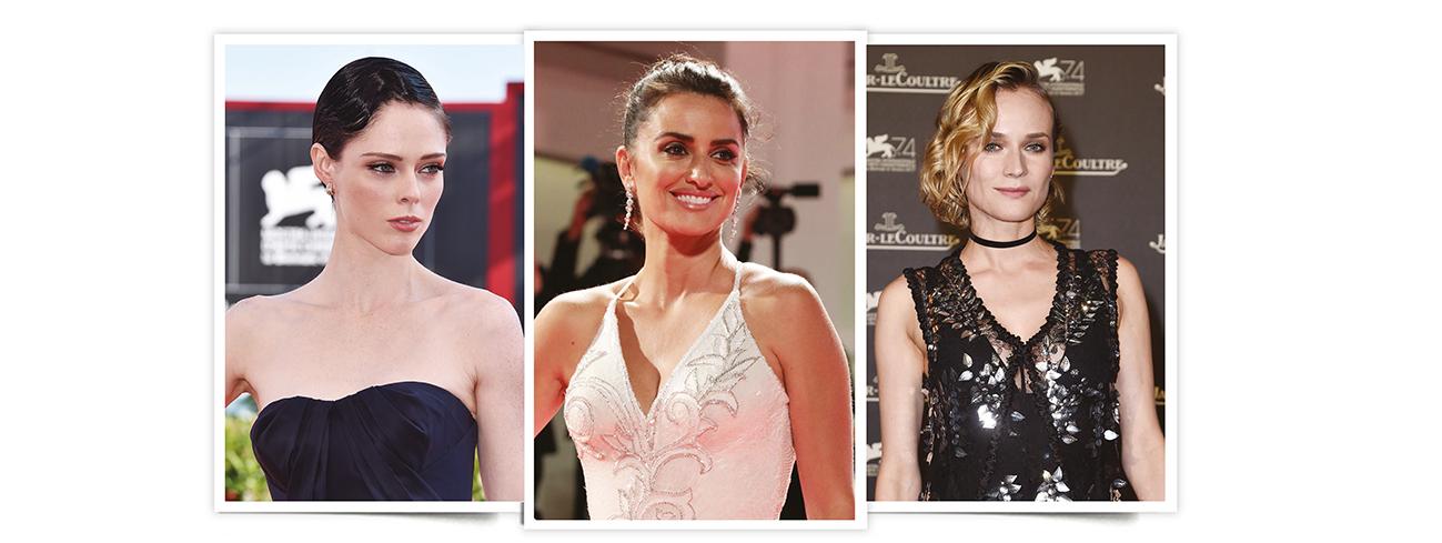 looks de belleza del Festival de Venecia. Festival de Venecia 2017: Coco Rocha, Penélope Cruz y Diane Kruger