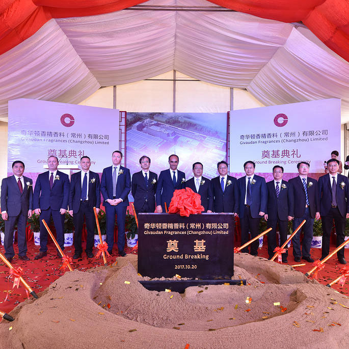 Givaudan inicia las obras de su mayor centro en China.