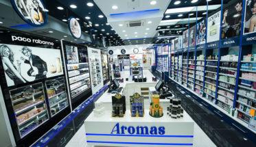 Perfumería Aromas en Faro, la primera de la cadena en Portugal.