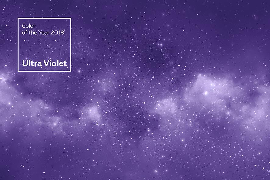 Ultraviolet COLOR pantone 2018
