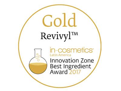 El ingrediente de Givaudan Revivyl premiado por in-cosmetics.