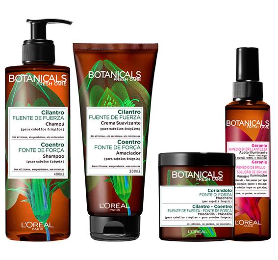 Botanicals Fresh Care, L'Oréal Paris, línea Aceite de Semillas de Cilantro y Vinagre Iluminador