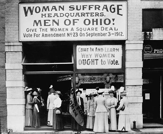 Sufragistas mujeres 1912