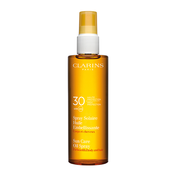 Spray Solaire CLARINS Huile Embellissante 30 UVA UVB