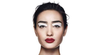 SHISEIDO relanza línea maquillaje: foto modelo maquillada.