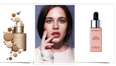 Maquillaje glow: Skin Illusion de Claris y Teint Couture Radiant Drop de Givenchy