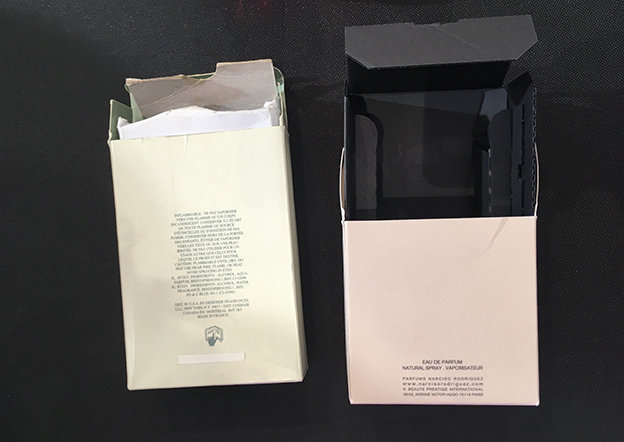 Cajas perfumes: detectar un perfume falso por la mala calidad del cartón