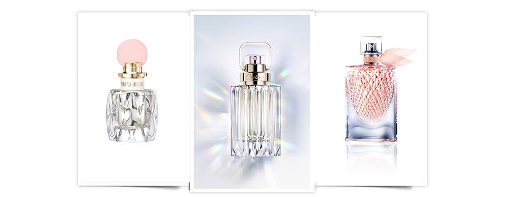 fragancias femeninas joya. Fragancias facetadas: Miu Miu Fleur D'Argent, Prada, Carat de Cartier y La Vie Est Belle L'Éclat EDT de Lancôme