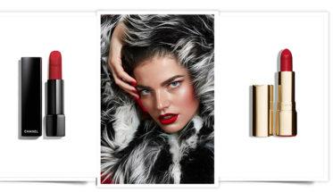 5 Rojos de labios rojos invierno: Chanel, Clarins