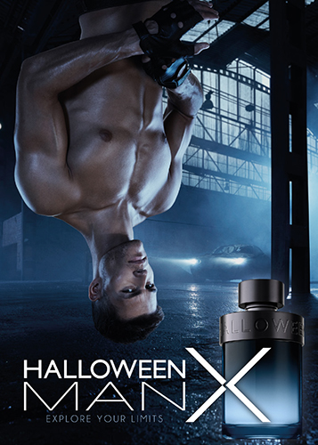 Halloween Man X visual publicitario