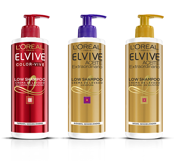 Low Shampoo Elvive, champú sin sulfatos