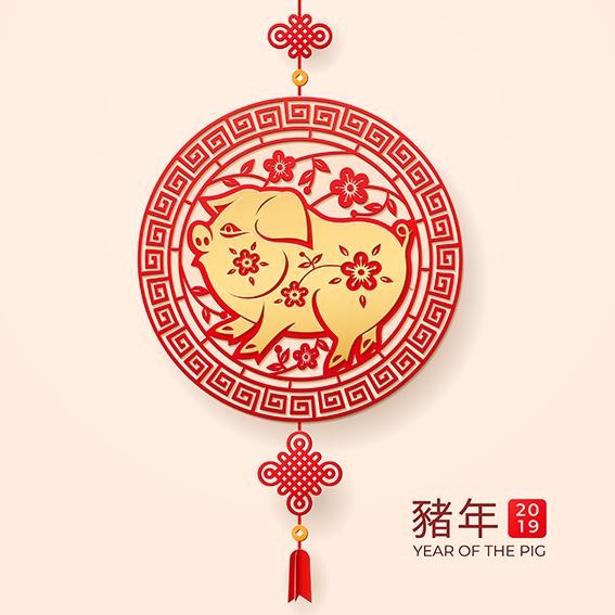 Año del Cerdo, China, 2019