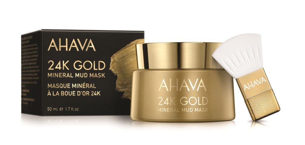 AHAVA 24K Gold Mineral Mud Mask.