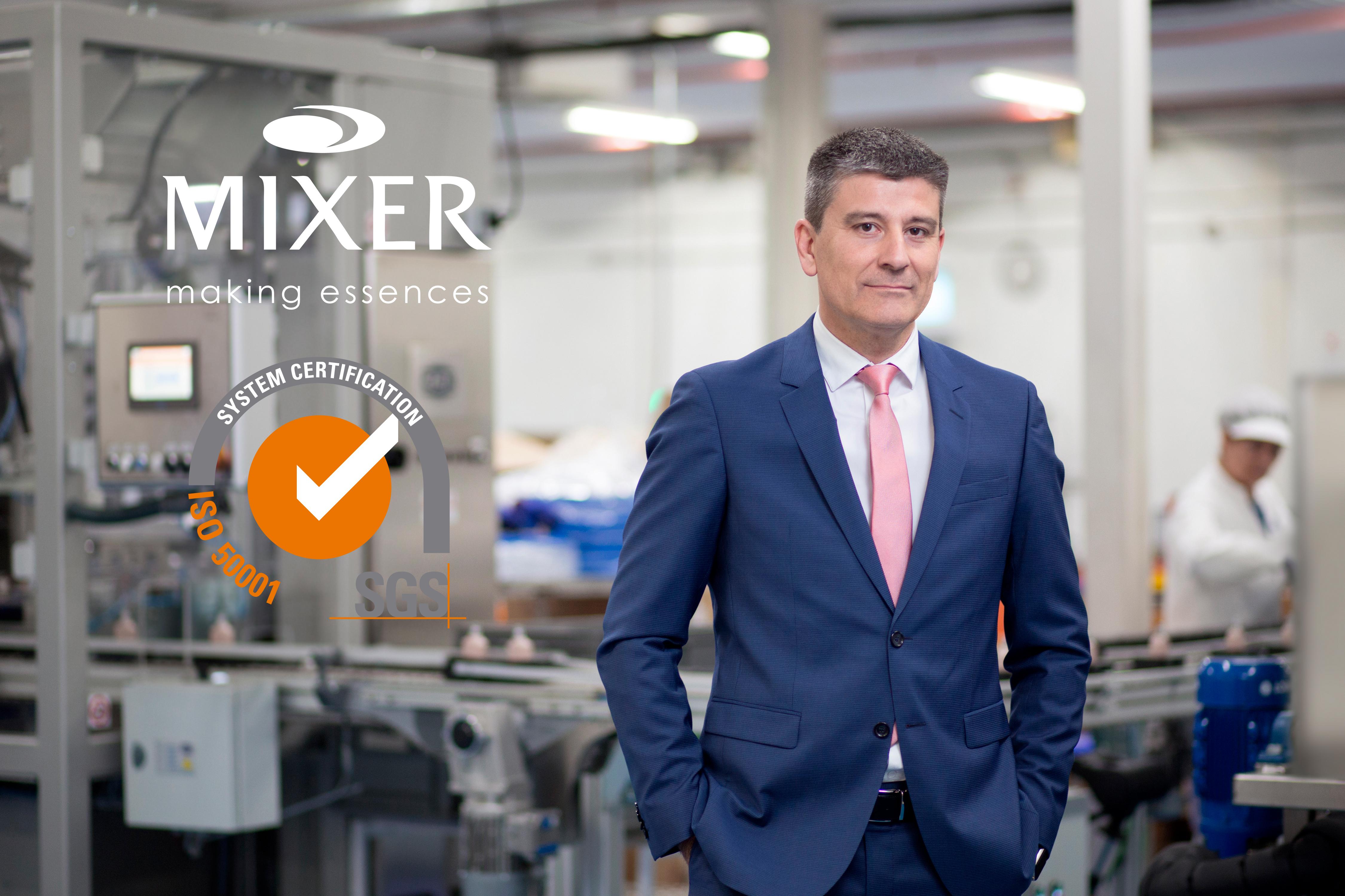 Javier Palacios, director de planta Mixer & Pack. La empresa implanta la ISO50001.
