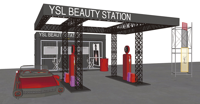 YSL Beauty Station en el festival BBK Live.