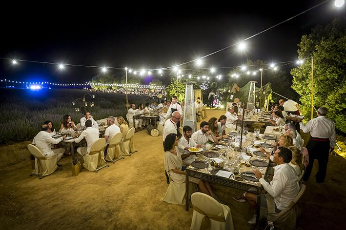 Cena vip en el Festival de la Lavanda, en Brihuega