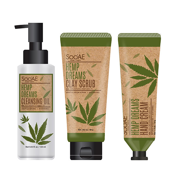 Productos de la gama Hemp Dreams de SOOAE