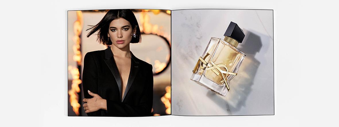 perfume Libre con Dua Lipa