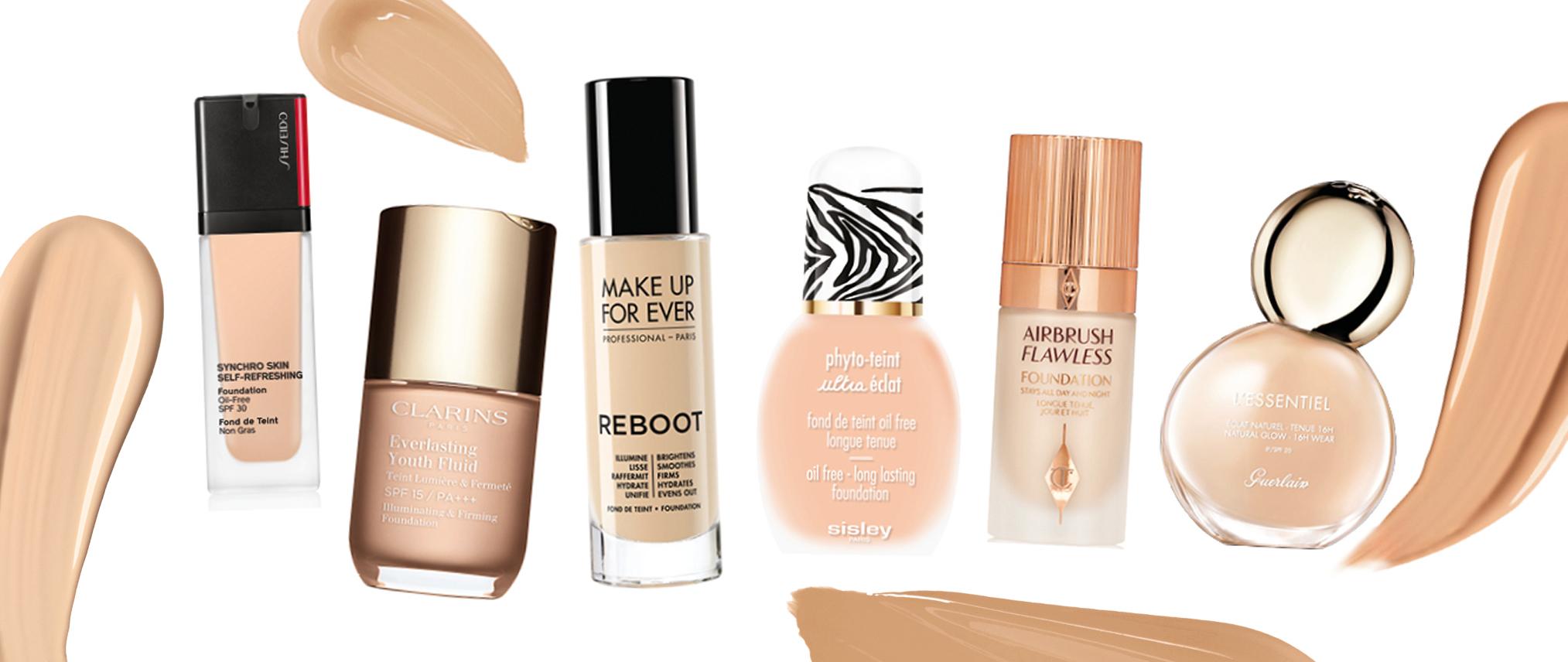 Bases de maquillaje con activos que cuidan la piel