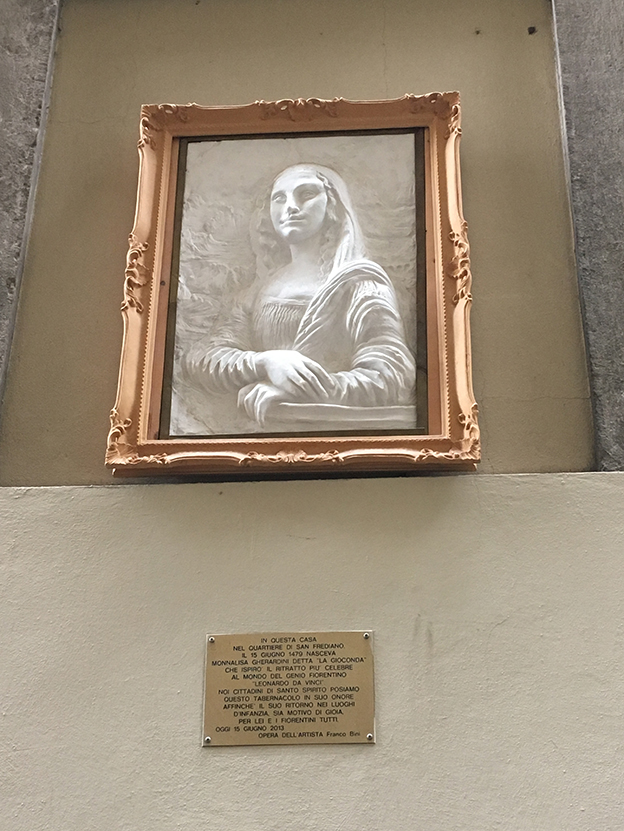 La Mona Lisa también está en Florencia.