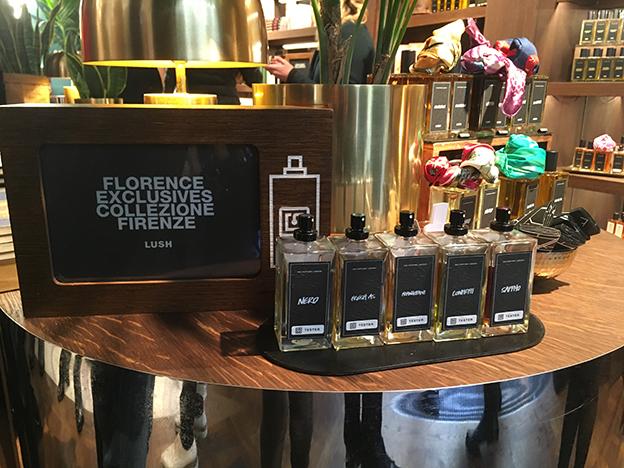 Colección de perfumes exclusiva de The Perfume Library, en Florencia.