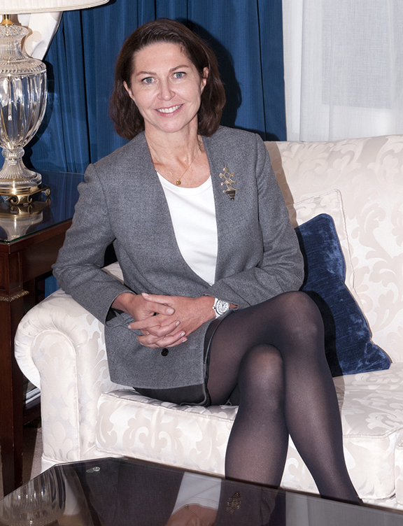 Marie-Hélène Lair, directora de comunicación científica de Clarins