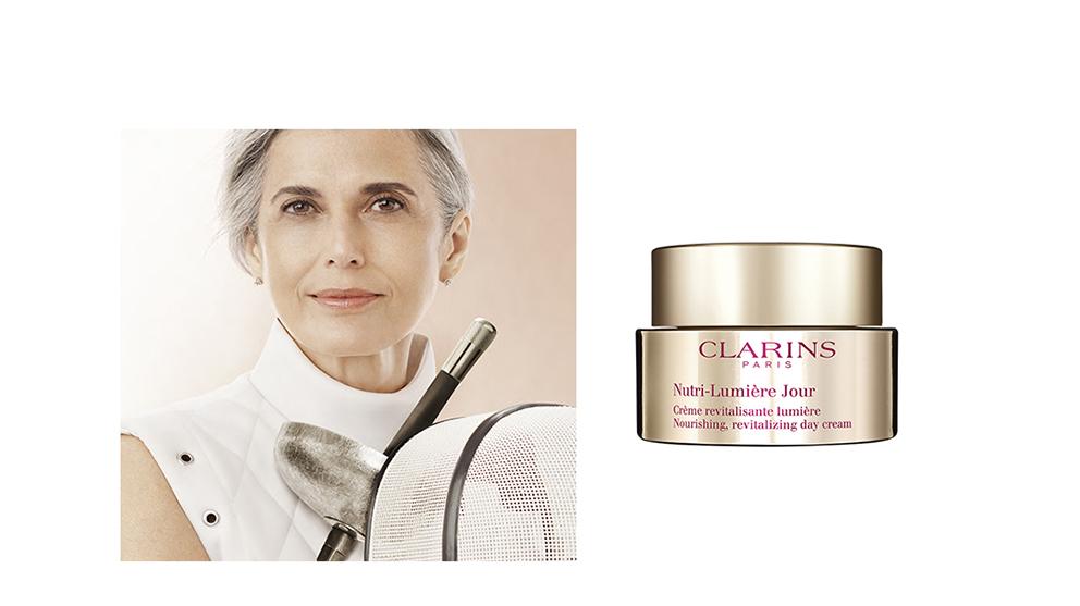 Nutri-Lumière, Clarins: nueva línea de cuidado facial para pieles maduras de 60 años en adelante.