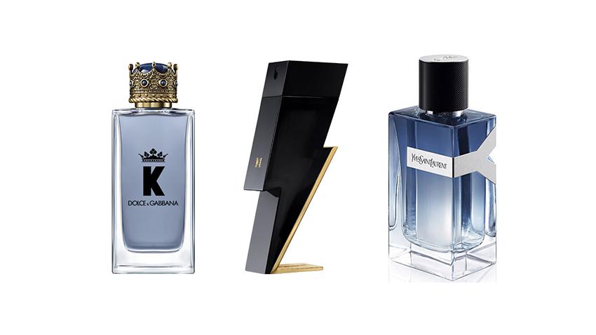 Perfumes masculinos para regalar: K de Dolce & Gabbana, Bad Boy de Carolina Herrera y Y de YSL