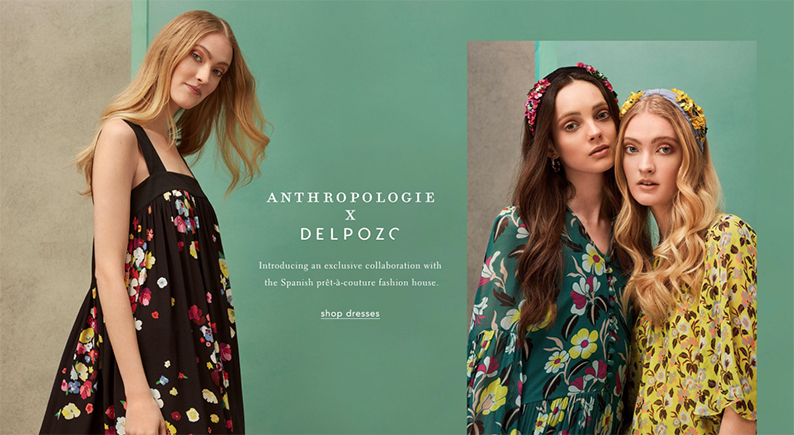 Delpozo para Anthropologie. Para el post: Delpozo sigue a la venga