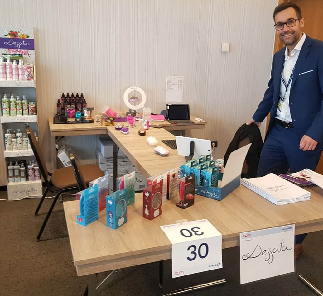 Expositor de Dessata en Beauty Program, en Barcelona