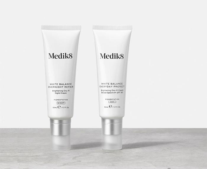 Medik8 White Balance Everyday Protect y Overnight Rrepair
