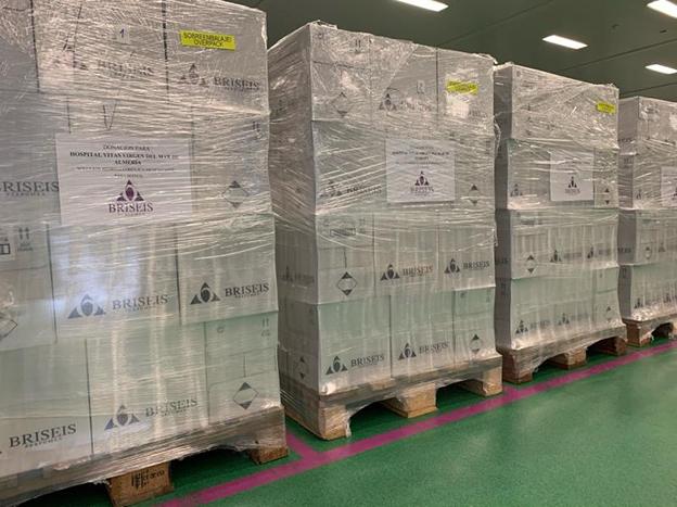 Briseis donación gel hidroalcohólico para sanidad Almería