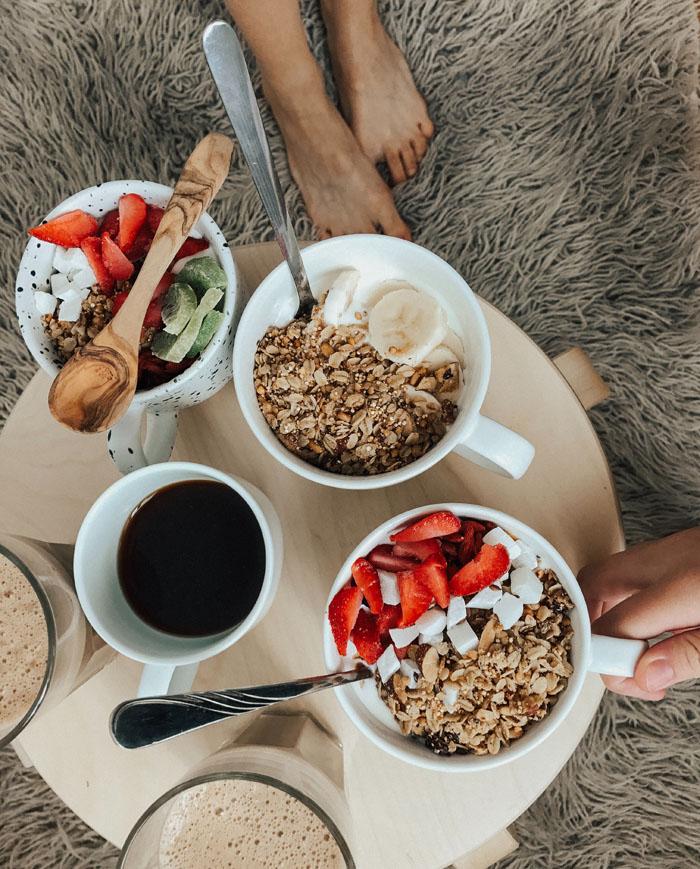 no engordar durante el confinamiento desayuno saludable